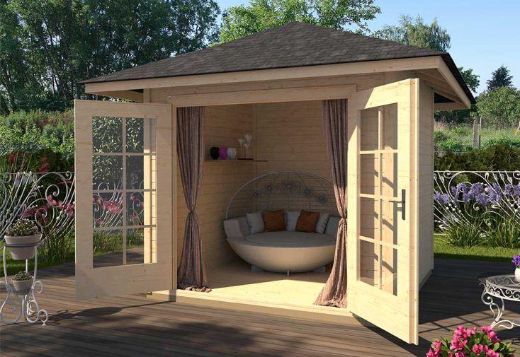Abri de jardin en bois d'épicéa brut 177 T2 Weka 8,88 m²
