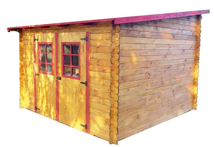 Abri de jardin en bois avec toiture 1 pente 300x300cm for Pente d une toiture