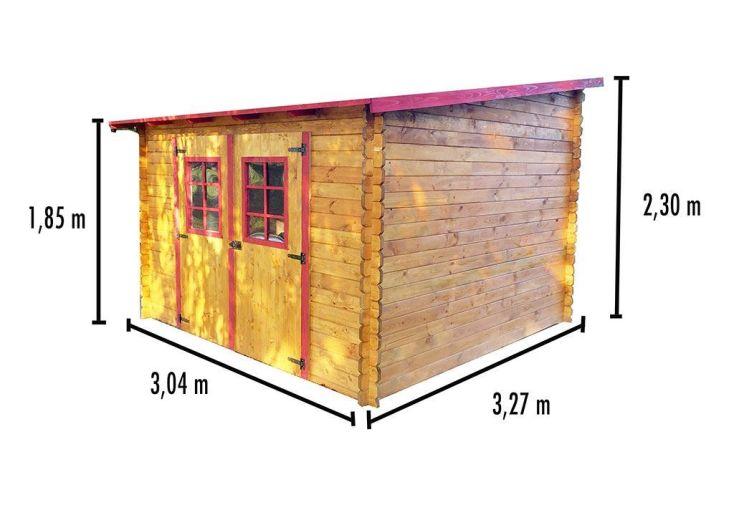 abri de jardin en bois avec toiture 1 pente 300x300cm. Black Bedroom Furniture Sets. Home Design Ideas