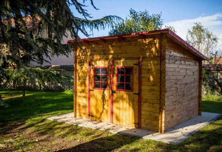Abri de Jardin en Bois avec Toiture 1 pente 300x300cm (Sens au choix ...