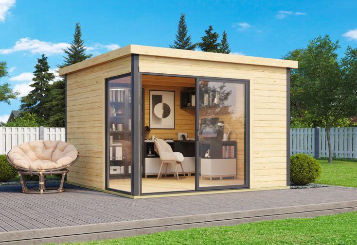 bureau de jardin en bois et double vitrage Domeo 1 Plus