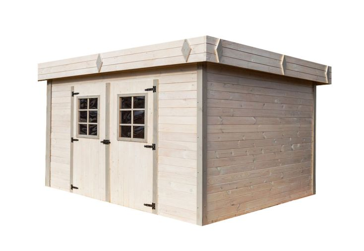 Abri de jardin en bois d'épicéa brut 28 mm 16,77 m² cabanon de jardin en bois Habrita