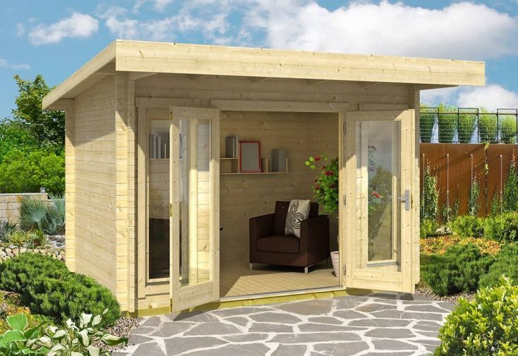 Abri de Jardin en Bois d'Épicéa Brut Barbados Mini 7 m²