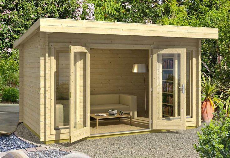 Abri de Jardin en Bois d'Épicéa Brut Dorset 9 m²