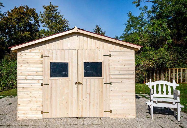 Abri de Jardin en Bois d'Épicéa Brut Habrita 9 m²