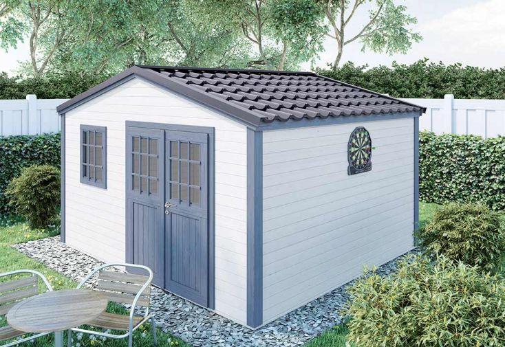 Abri de Jardin en Bois d'Épicéa Brut Madeira Shelty+ 14 m²