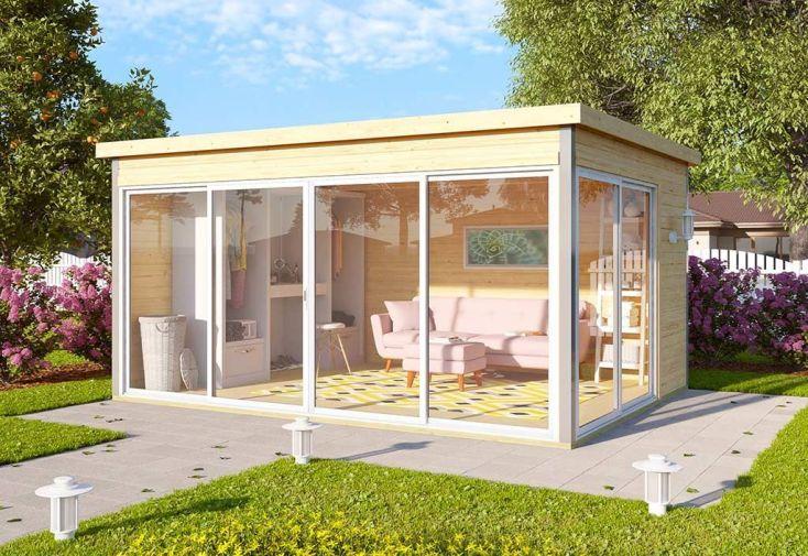 Abri de Jardin en Bois d'Épicéa Brut Domeo 4 12 m²