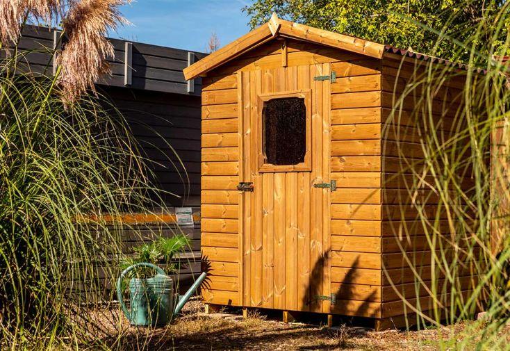 Abri de Jardin en Bois d'Épicéa Traité avec Plancher Habrita 2,5 m²