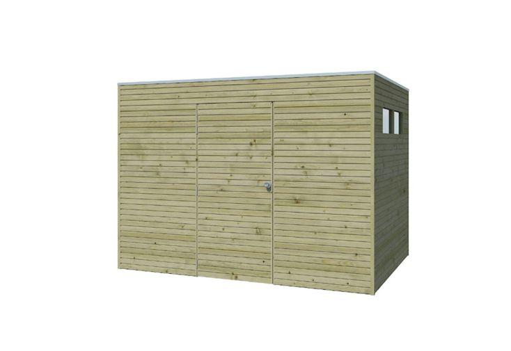 Abri de jardin en bois traité autoclave Gadenas Qube 6,3 m²