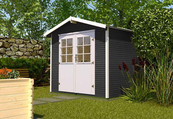 Abri de Jardin en Bois d'Épicéa WekaLine 4,9 m² Anthracite dans Jardin
