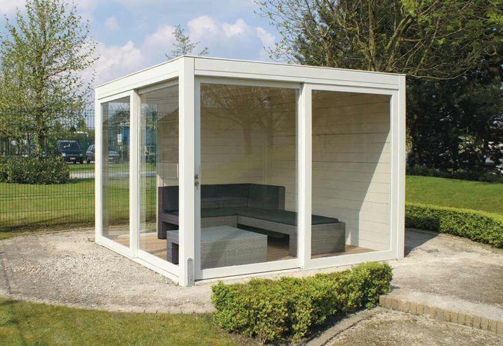 Abri de jardin bois 2 baies vitr es 1 fen tre exterior for Bois de jardin belgique