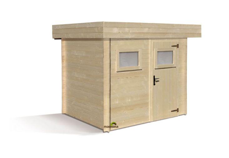 Abri de jardin bois 19mm Mikki 248x195 + Plancher