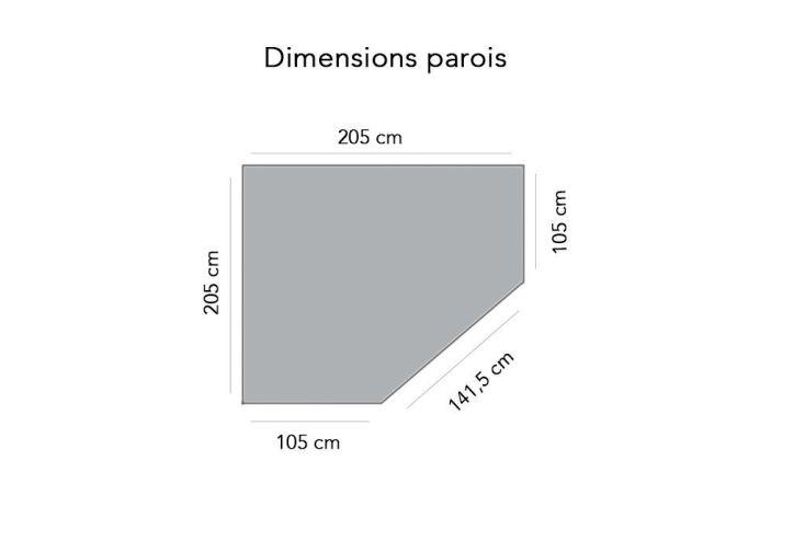 Abri de Jardin Bois Nancy 28mm (205x205cm)