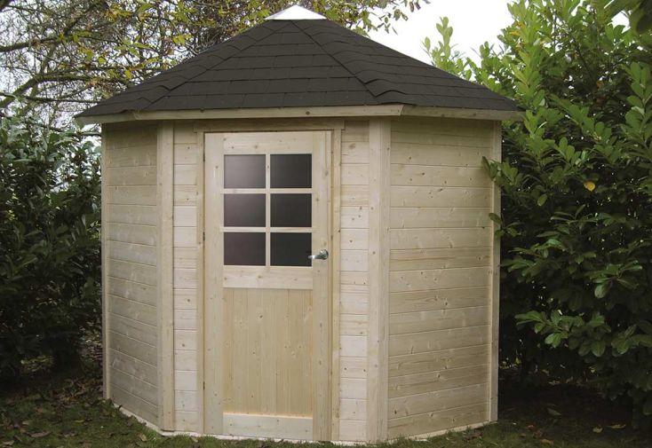 Abri de jardin bois nancy 28mm 205x205cm solid for Abris de jardin solid belgique