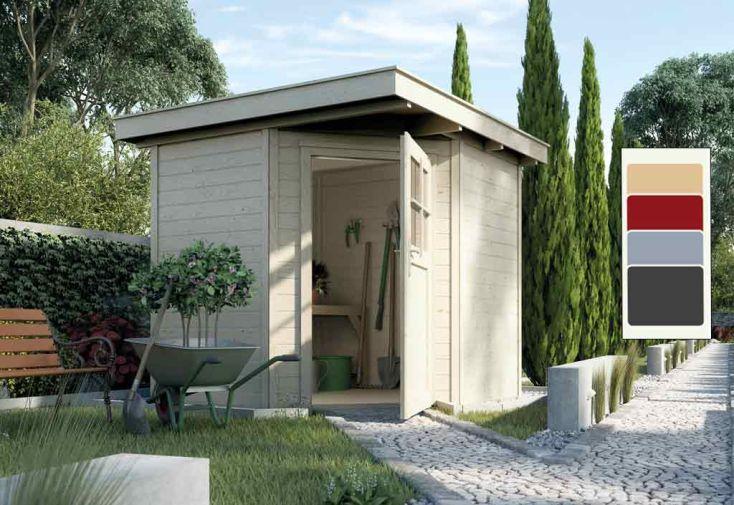 Abri Jardin Bois d\'Angle Quinta 21mm (209x205) - Weka