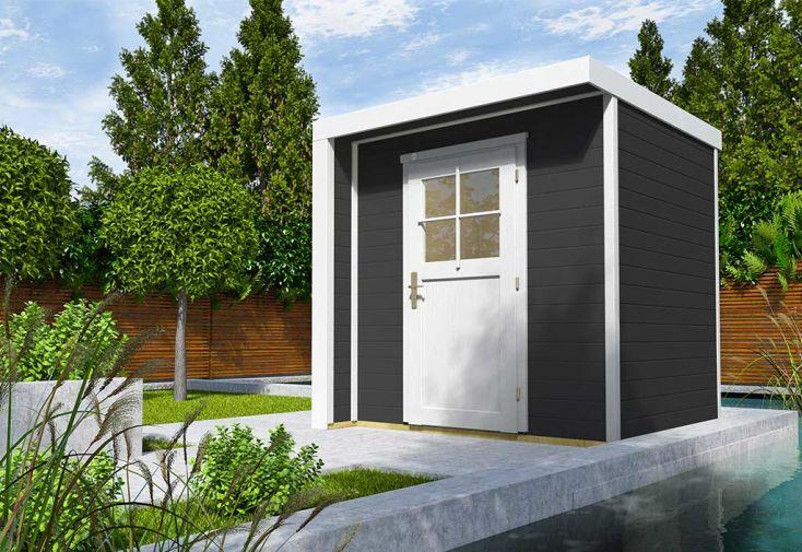 Abri de Jardin en Bois Riva 4,3 m² (2 Coloris)