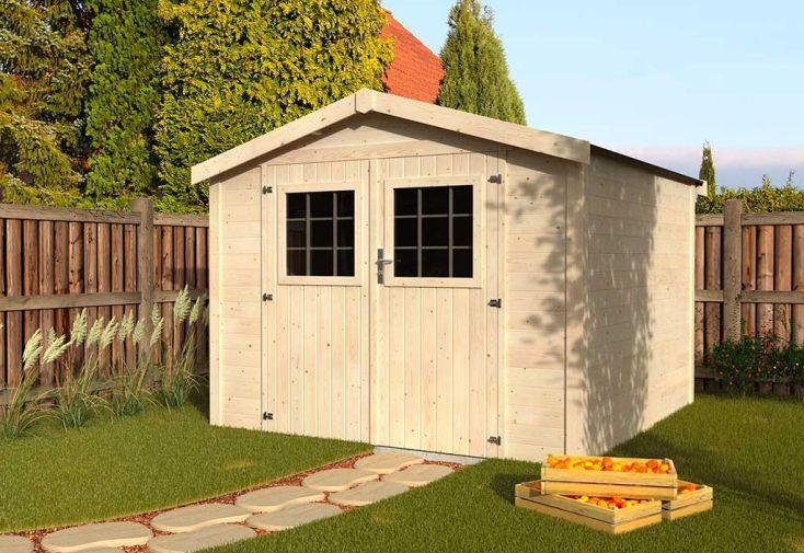 Abri de Jardin en Bois de Sapin Brut Décor et Jardin Turenne 7,4 m²