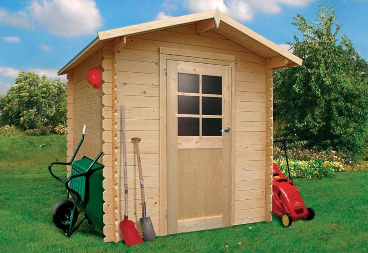 Abri de jardin bois halle 19mm 208x208cm abri de for Abris de jardin solid belgique