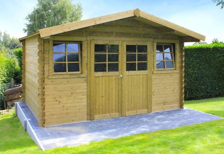 abri de jardin en bois Dole 388 x 298 cm surface 11,5 m2
