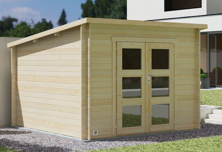 Abri de jardin en bois d'épicéa du nord d'une épaisseur 19 mm