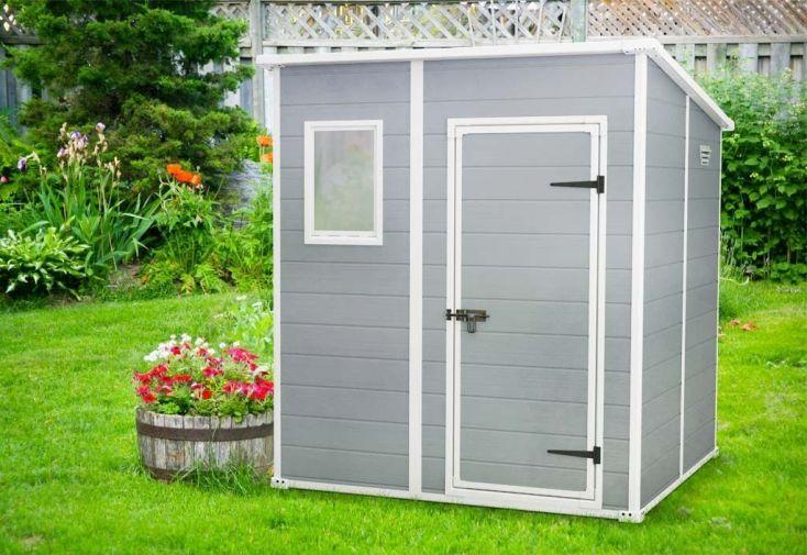 abri jardin premium 66 3m2 en polypropylène étanche et anti-UV toit monopente