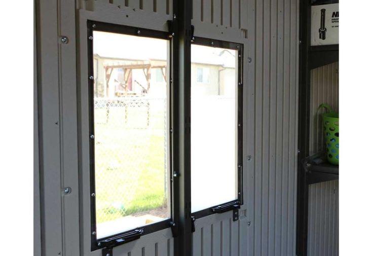 fenêtre pour abri de jardin en résine