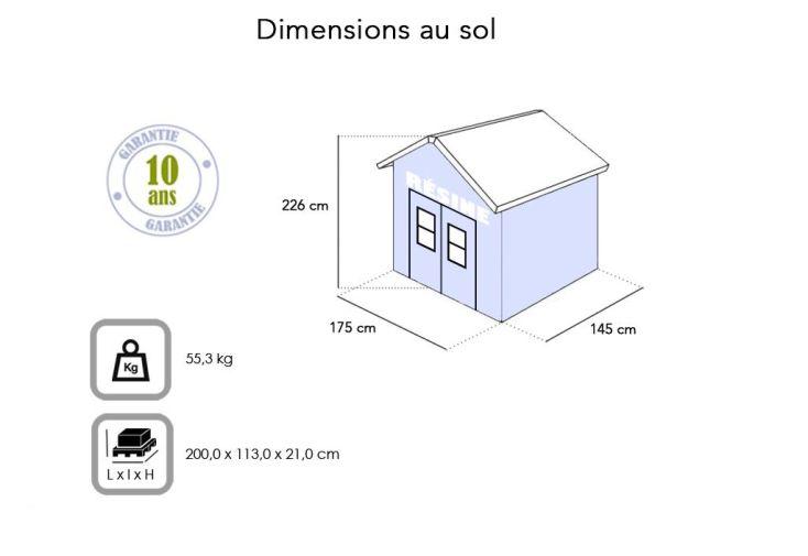 Abri de Jardin en Résine Premium 65 (152x185)