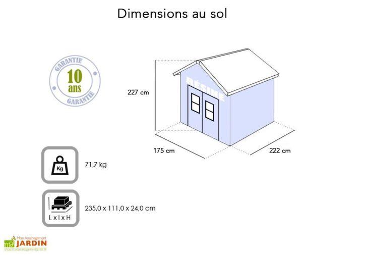 Abri de Jardin en Résine Premium 86 (237x186)