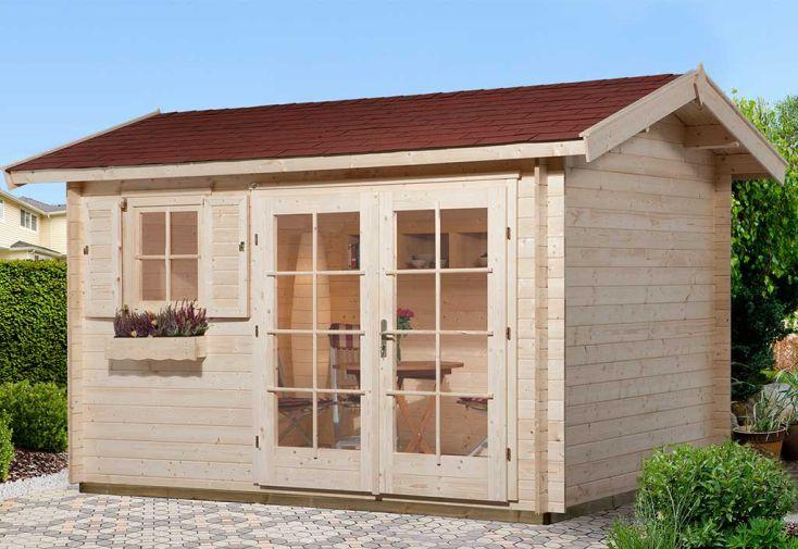 Abri de jardin en bois d'épicéa brut Weka 163 Premium 28 T2 10,20 m²