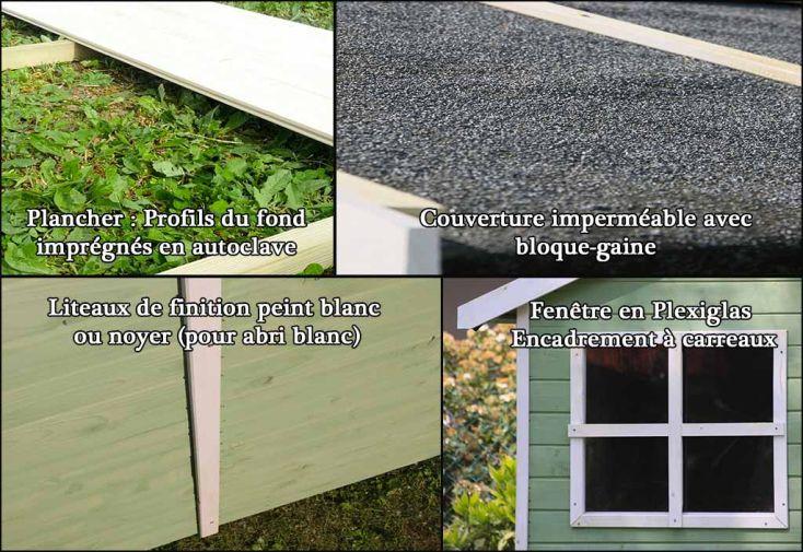 Abri de Jardin Bois FSC Traité et Peint Portofino 135x180cm