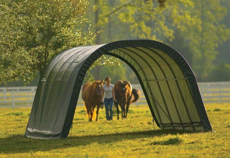 abri souple pour chevaux et animaux en polyéthylène