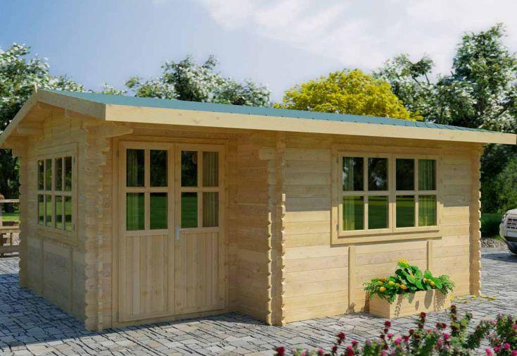 Abri de jardin bois alpina 499x399x243 44 mm abri de jardin alpina 5 4 44mm avec feutre for Abri de jardin quelle epaisseur