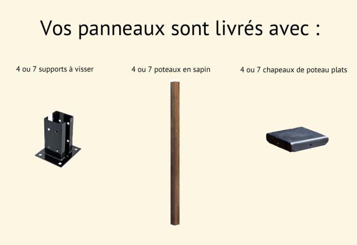Kit Panneaux Bois Selekt Droits (180x90)