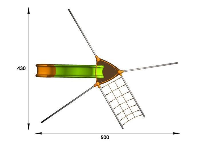 Aire de Jeux EVO-Star avec 6 Agrès