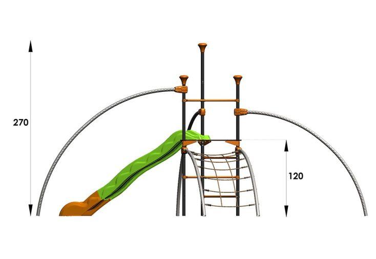 Aire de Jeux EVO-Traxx avec 6 Agrès