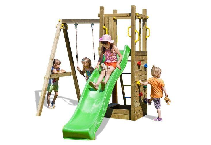 structure de jeux pour enfants toboggan escalade et balançoire