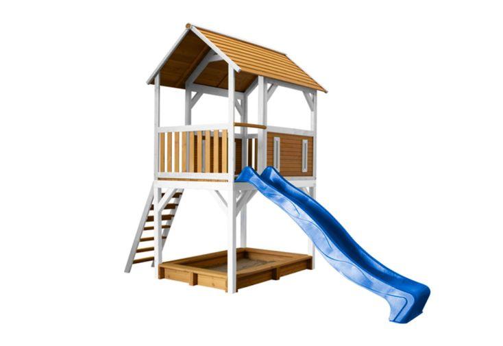 Portique Aire de Jeux Toboggan en Bois de Hemlock et Cyprès Axi Safari Pumba Play Tower