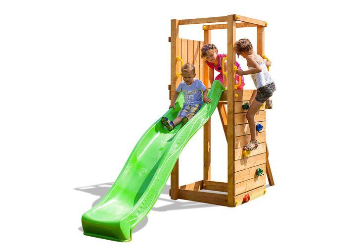 Aire de Jeux en Bois de Pin Traité Fungoo Tip Top Détourée