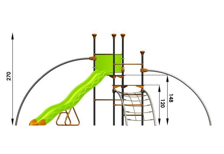 Aire de Jeux EVO-Costo avec 6 Agrès