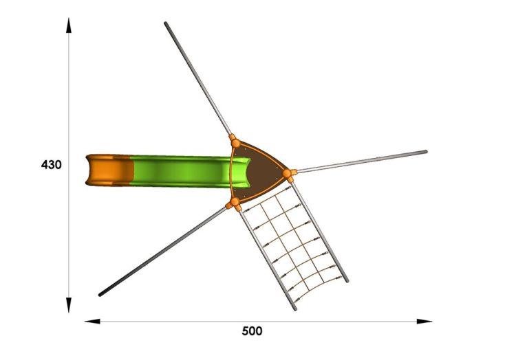 Aire de Jeux EVO-Foly avec 6 Agrès