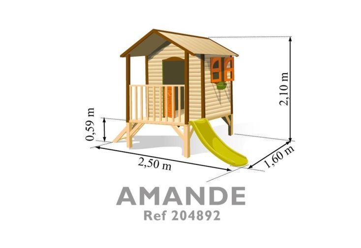 Maisonnette bois Amande