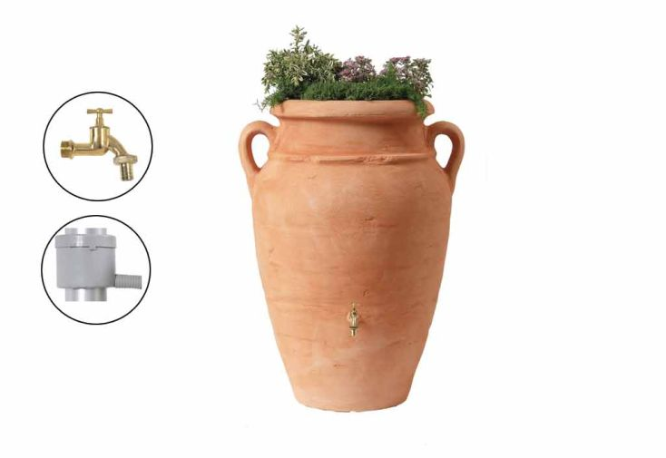 Cuve Récupération d'Eau Pluie Amphore Antik 600 L Terracota