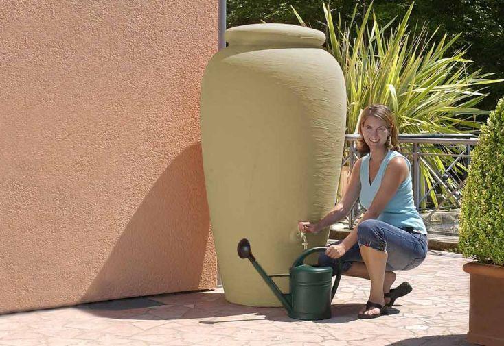 cuve r cup ration d 39 eau pluie amphore sable 500 l garantia. Black Bedroom Furniture Sets. Home Design Ideas