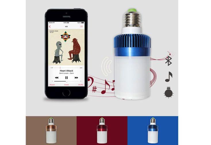 Ampoule Blanche Musicale Connectée Bluetooth