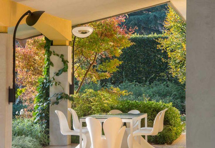 Applique Chauffante Murale Infrarouge avec Tige Arc Court 2000W (4 Coloris)