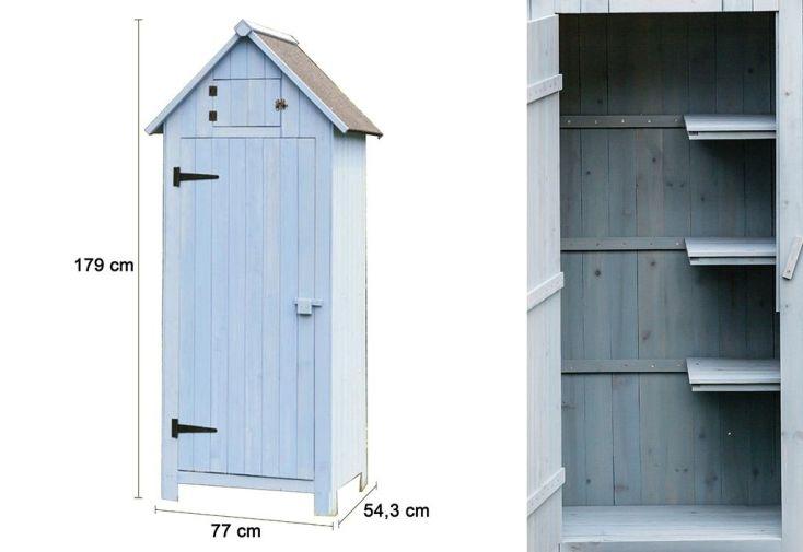 cabane de jardin en bois FSC pour rangement