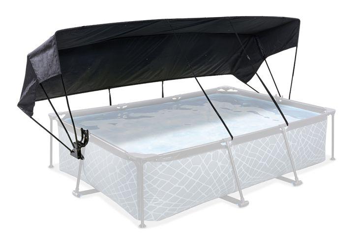 Auvent de protection pour piscines rectangulaires hors sol 300 x 200 cm