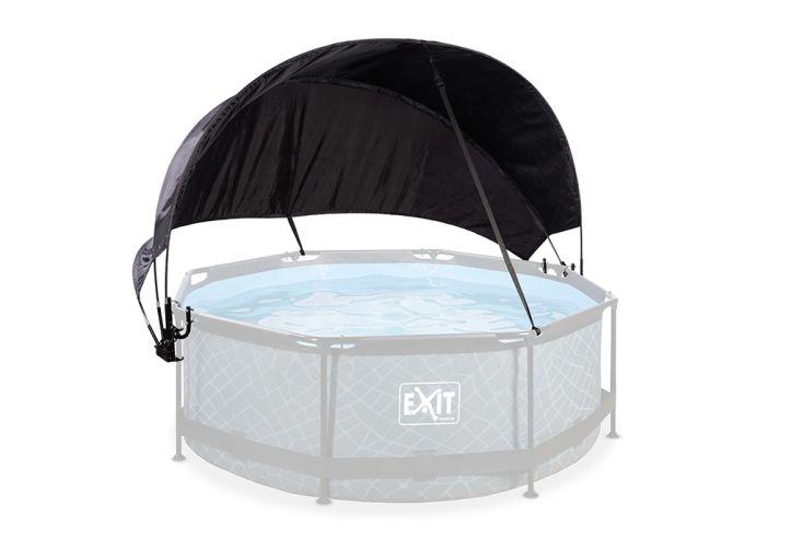Auvent pour piscine de 244 cm de diamètre en polyester et polyuréthane