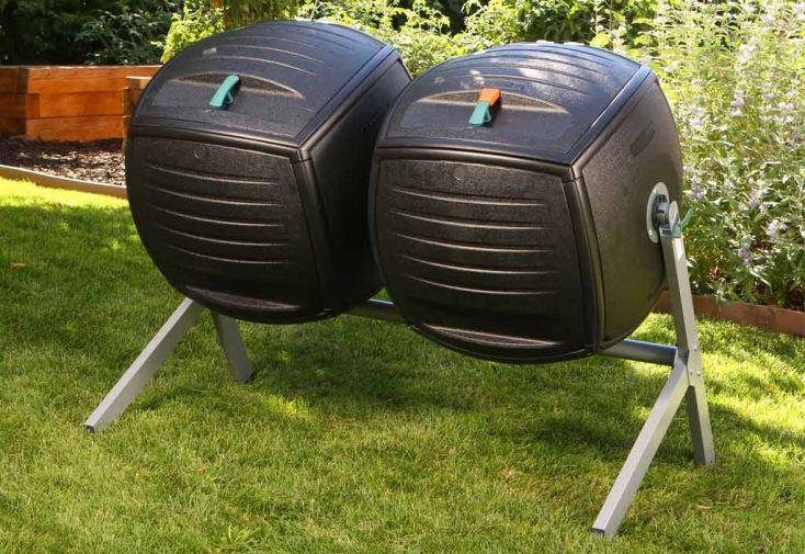Composteur Double 2x189L Lifetime Polyethylene