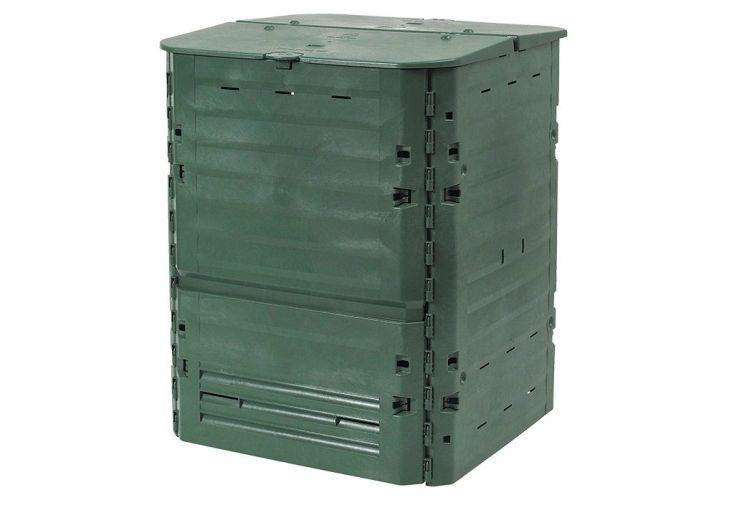 Bac composteur de jardin vert polypropylène et thermolen 400 litres